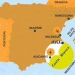 Carte espagne zoom Costa Blanca