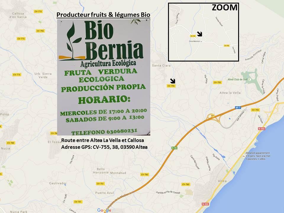 Plan maraicher Bio Bernia Altea
